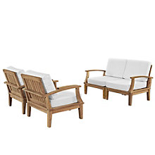 4 PC Outdoor Patio Teak Sofa S, 8805956