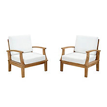 2 PC Outdoor Patio Teak Sofa S, 8805957