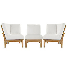3 PC Outdoor Patio Teak Sofa S, 8805959