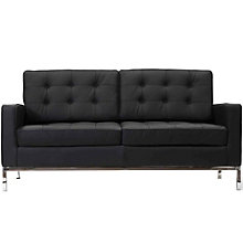 Leather Loveseat, 8805996