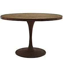"47"" Oval Wood Top Dining Table, 8806124"