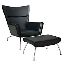 Leather Lounge Chair, 8806423
