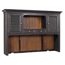 "Grandview Two Tone Hutch with Reversible Door Panels - 66""W, 8813982"