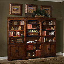 "Century Bookcase Wall with Four Doors - 79""H, 8814023"