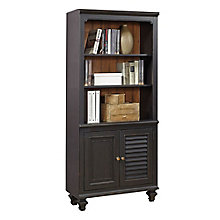 "Grandview Two Tone Five Shelf Bookcase with Lower Doors - 32""W, 8813945"