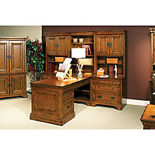 Century Peninsula Partner Desk with Storage Wall, 8814147
