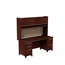"Enterprise Double Pedestal Desk with Hutch  - 72""W, 8808122"