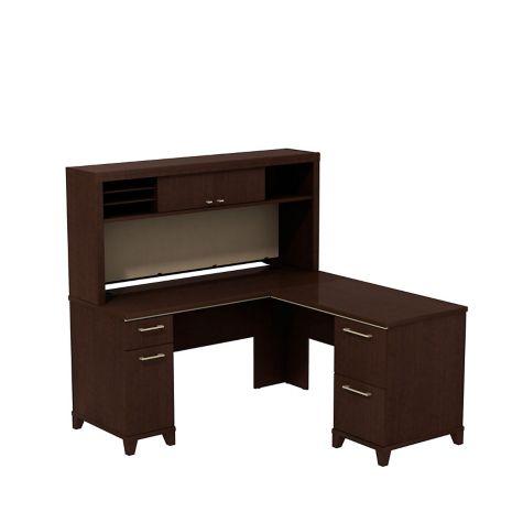 60 W Enterprise L Desk With Hutch Storage