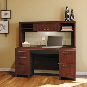 60 W Enterprise Double Pedestal Desk With Hutch Officefurniture Com