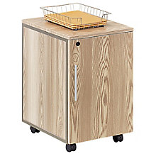 Mobile Storage Pedestal in Warm Ash, 8804250