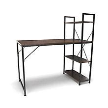 "Essentials Compact Desk with Bookshelf - 48""W, 8826043"