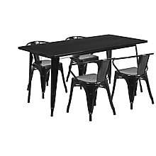 Black Metal Indoor Table Set, 8812012