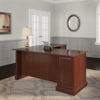Bush Furniture Reversible L-Desk   OfficeFurniture com