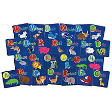 Alphabet Animal Seat Sq Set 26, 8822996
