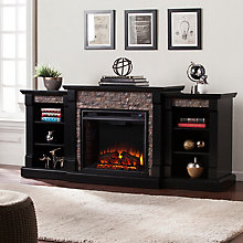 Electric Fireplace w/Bookcases, 8820757