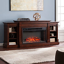 Electric Fireplace w/Bookcases, 8821347