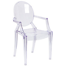 Clear plastic stack chair, 8812047
