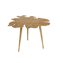 Amoeba Side Table Gold, 8808599