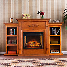 Infrared Fireplace w/Bookcases, 8821426