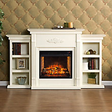 Electric Fireplace w/Bookcases, 8821427