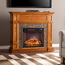 Faux Stone Infrared Fireplace , 8820536