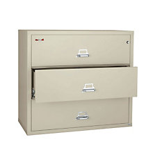 "Fireproof Three Drawer Lateral Fire - 44""W, FIR-3-4422-C"