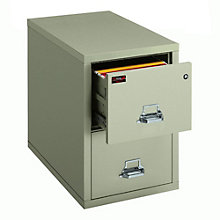"Fireproof Two Drawer Letter Size Vertical File - 31""D, 8802061"
