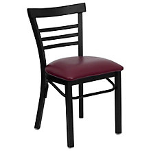 Jackson Ladder Back Cafe Chair with Vinyl Seat, 8803705