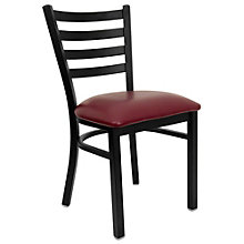 Jackson Slat Back Cafe Chair with Vinyl Seat, 8803706