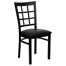 Jackson Window Back Cafe Chair with Vinyl Seat, 8803720
