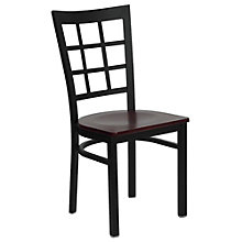 Jackson Window Back Cafe Chair with Wood Seat, 8803721