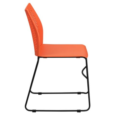 Side view in orange