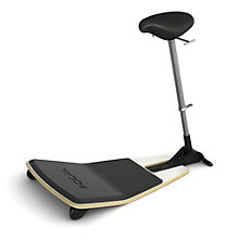 Focal Upright Locus Perch Stool with Anti-Fatigue Mat and Nubuck Seat, 8804662