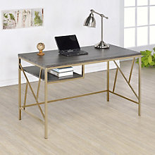"Ayne Metal Frame Writing Desk - 47.25""W, 8804610"