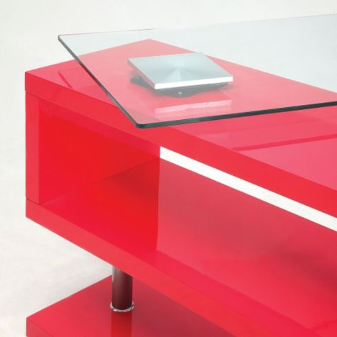 Glass top shown in motion with Rose Pink base