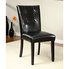 Bion Tufted Back Parson Style Chair in Faux Leather, 8804620