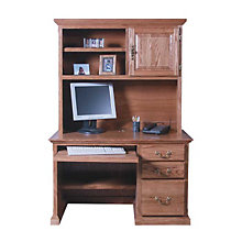 Traditional Compact Computer Desk with Hutch, OFG-DH0060