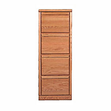 Contemporary Four Drawer Vertical File, FOD-1034-B