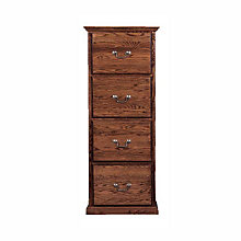 Traditional Four Drawer Vertical File, FOD-1034-T