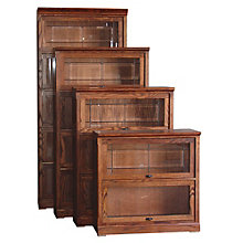 "2 Shelf Mission Style Barrister Bookcase - 35""H, 8802136"