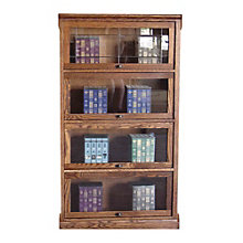 "4 Shelf Mission Style Barrister Bookcase - 64""H, 8802138"