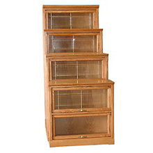 "4 Shelf Traditional Barrister Bookcase - 64""H, 8802142"