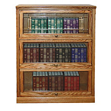 "3 Shelf Traditional Barrister Bookcase - 49""H, 8802141"