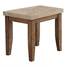 Franco Marble Top End Table, 8806899