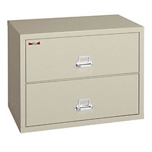 "Fireproof Two Drawer Lateral File - 38""W, FRK-2-3822-C"