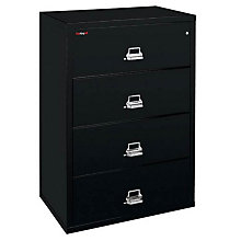 "Fireproof Four Drawer Lateral File - 38""W, FRK-4-3822-C"