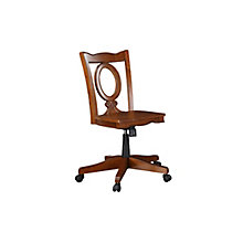 Palm Beach Armless Keyhole Back Office Chair in Solid Wood, 8813448