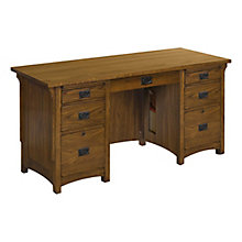 "Colorado Double Pedestal Desk - 62""W, 8813451"