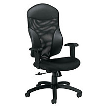 High Back Mesh and Fabric Ergonomic Task Chair, GLO-1950-4