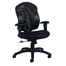 Mid-Back Mesh and Farbic Ergonomic Task Chair, GLO-1951-4
